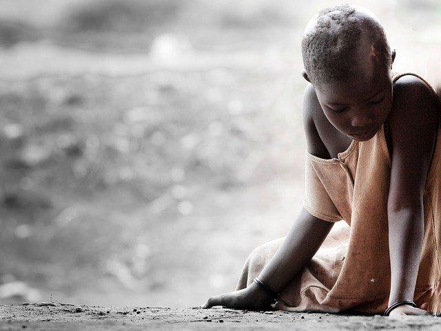 アフリカの飢餓による子供への影響